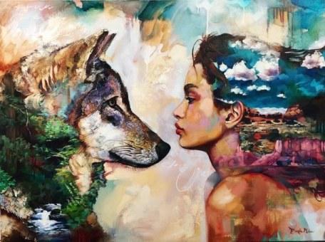 drawing-nature-wolf-woman-favim-com-4514257
